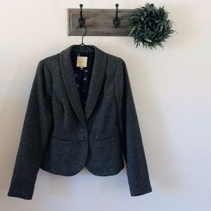 Modcloth Gray Speckled Blazer L